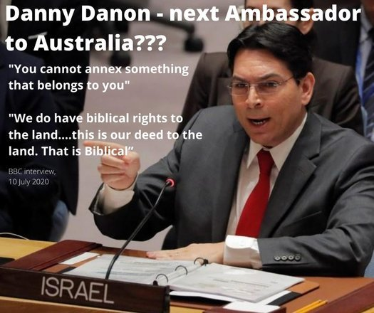 image of Danon should not be Ambassador in Australia